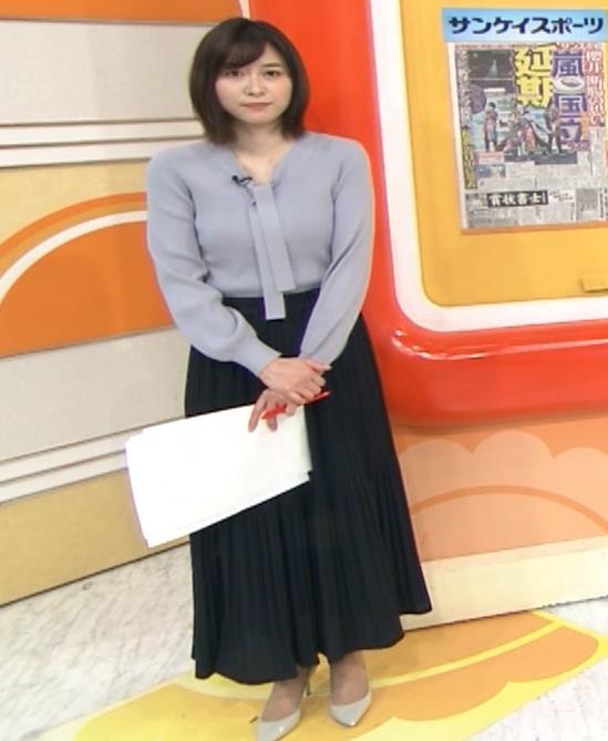 久冨慶子アナ 胸がエロいニットキャプ・エロ画像10