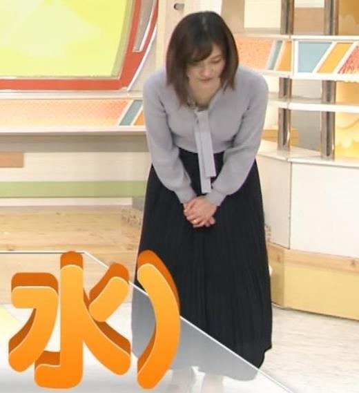 久冨慶子アナ 胸がエロいニットキャプ画像(エロ・アイコラ画像)