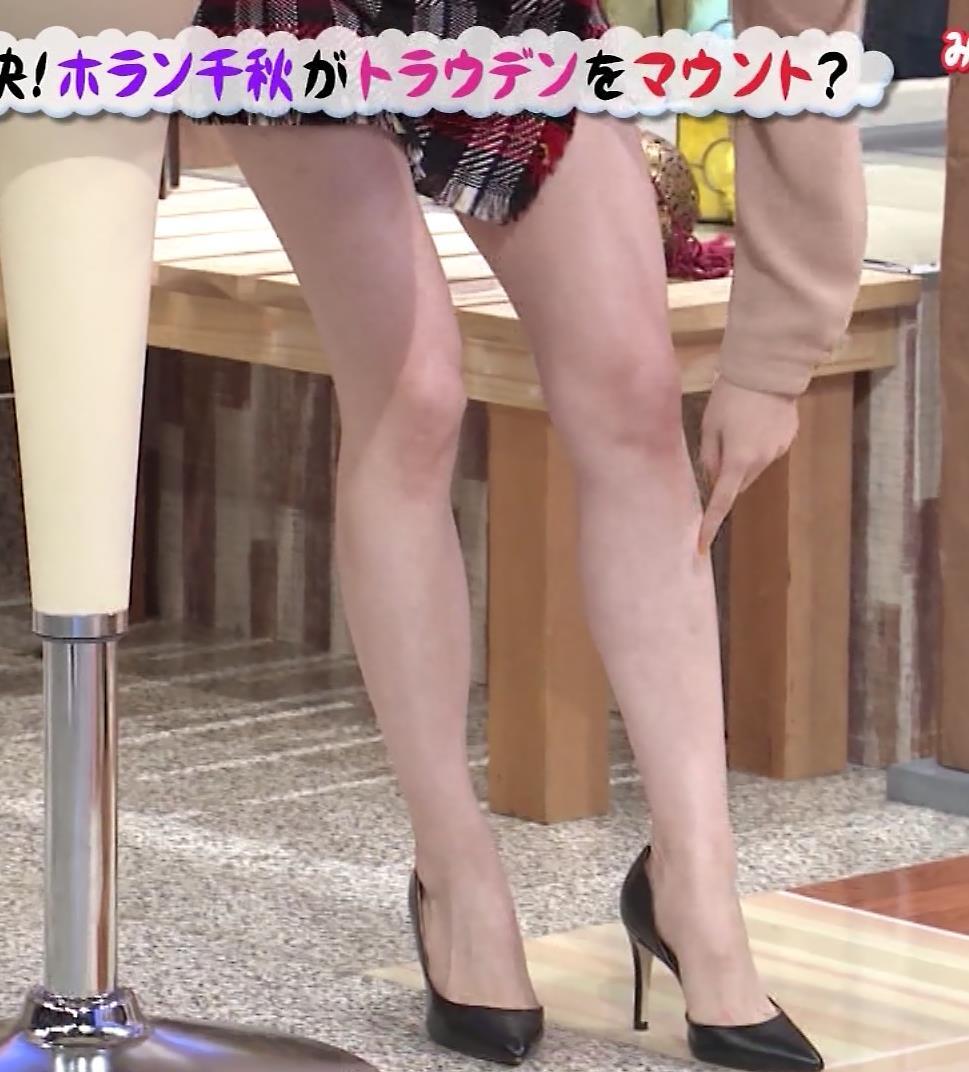 ホラン千秋アナ 太もも、美脚エロキャプ・エロ画像8