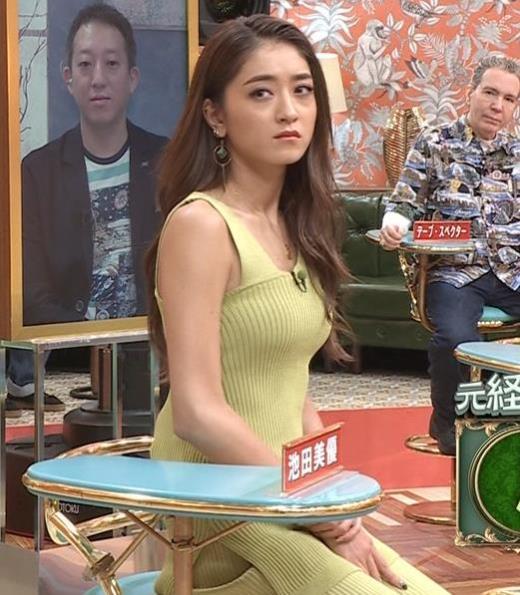 池田美優 エロい体のラインキャプ画像(エロ・アイコラ画像)