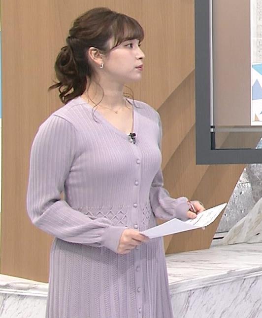 角谷暁子アナ おっぱいがエロいワンピースキャプ・エロ画像2