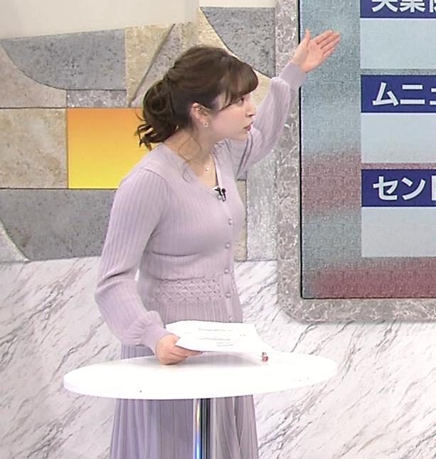 角谷暁子アナ おっぱいがエロいワンピースキャプ・エロ画像4