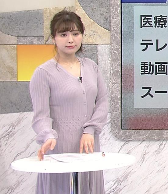 角谷暁子アナ おっぱいがエロいワンピースキャプ・エロ画像6