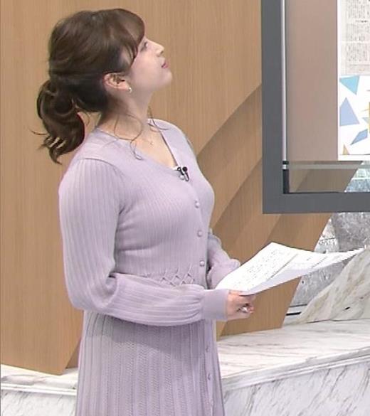 角谷暁子アナ おっぱいがエロいワンピースキャプ画像(エロ・アイコラ画像)