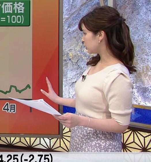 角谷暁子アナ 巨乳が際立つニットキャプ・エロ画像3