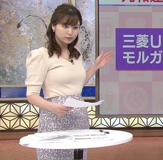 角谷暁子アナ 巨乳が際立つニットキャプ・エロ画像6