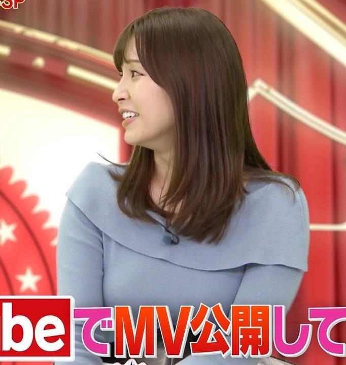 角谷暁子アナ パツパツ衣装がエロいキャプ・エロ画像4