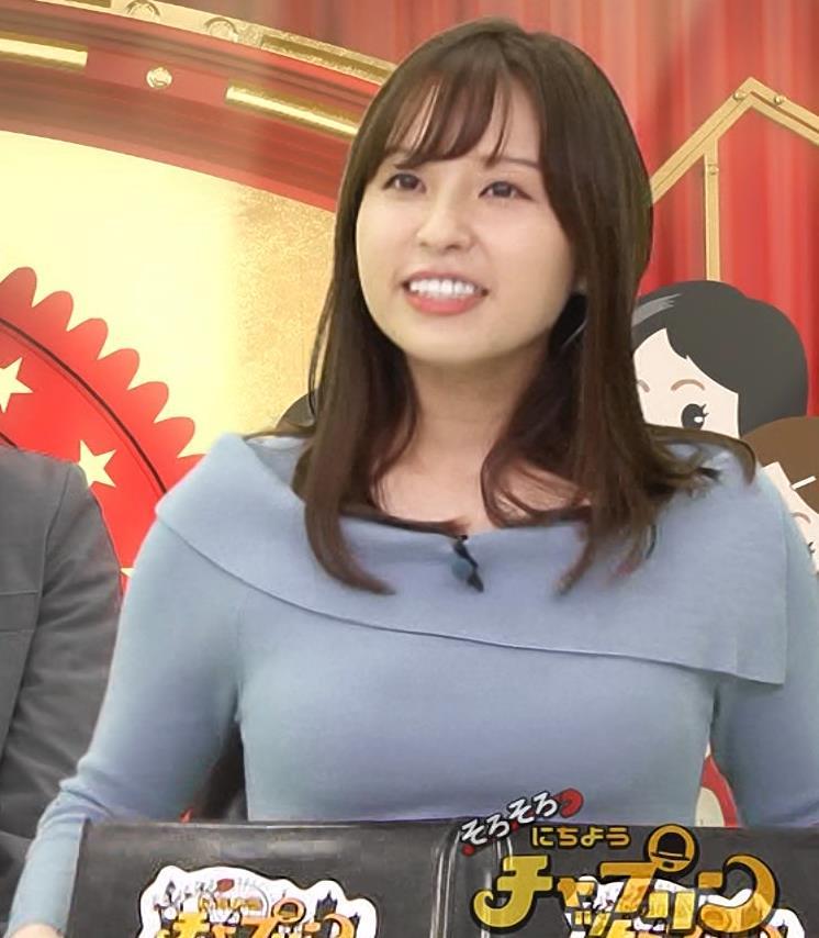 角谷暁子アナ パツパツ衣装がエロいキャプ・エロ画像5