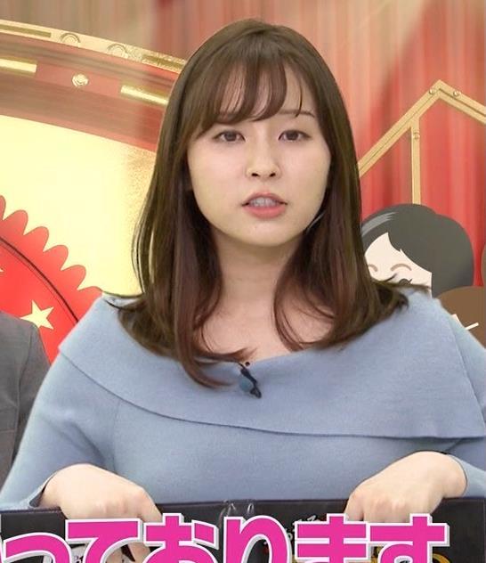 角谷暁子アナ パツパツ衣装がエロいキャプ・エロ画像6