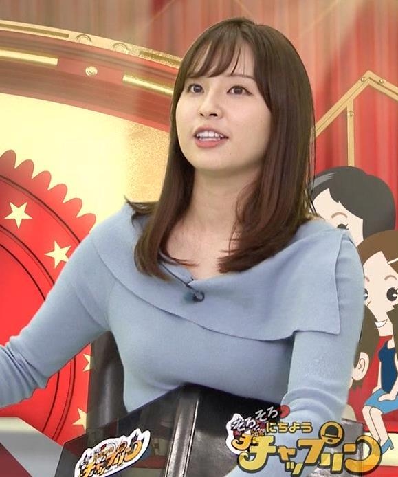 角谷暁子アナ パツパツ衣装がエロいキャプ・エロ画像7