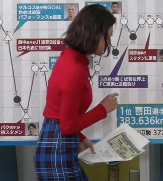 上村彩子アナ おっぱいとお尻がエロい画像キャプ・エロ画像6