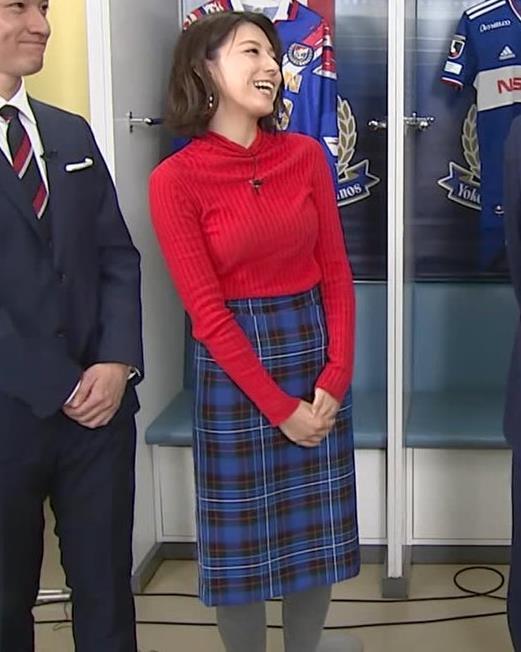 上村彩子アナ おっぱいとお尻がエロい画像キャプ・エロ画像9