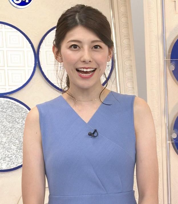 上村彩子アナ タイトめノースリーブキャプ・エロ画像