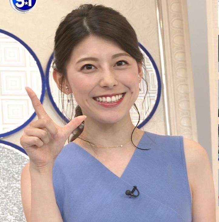 上村彩子アナ タイトめノースリーブキャプ・エロ画像2