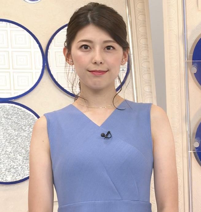 上村彩子アナ タイトめノースリーブキャプ・エロ画像3