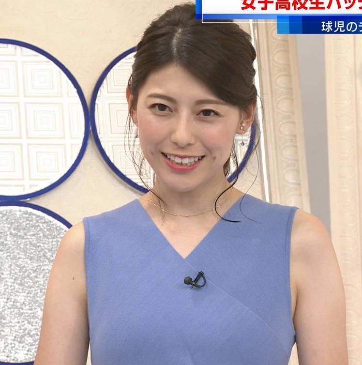 上村彩子アナ タイトめノースリーブキャプ・エロ画像5