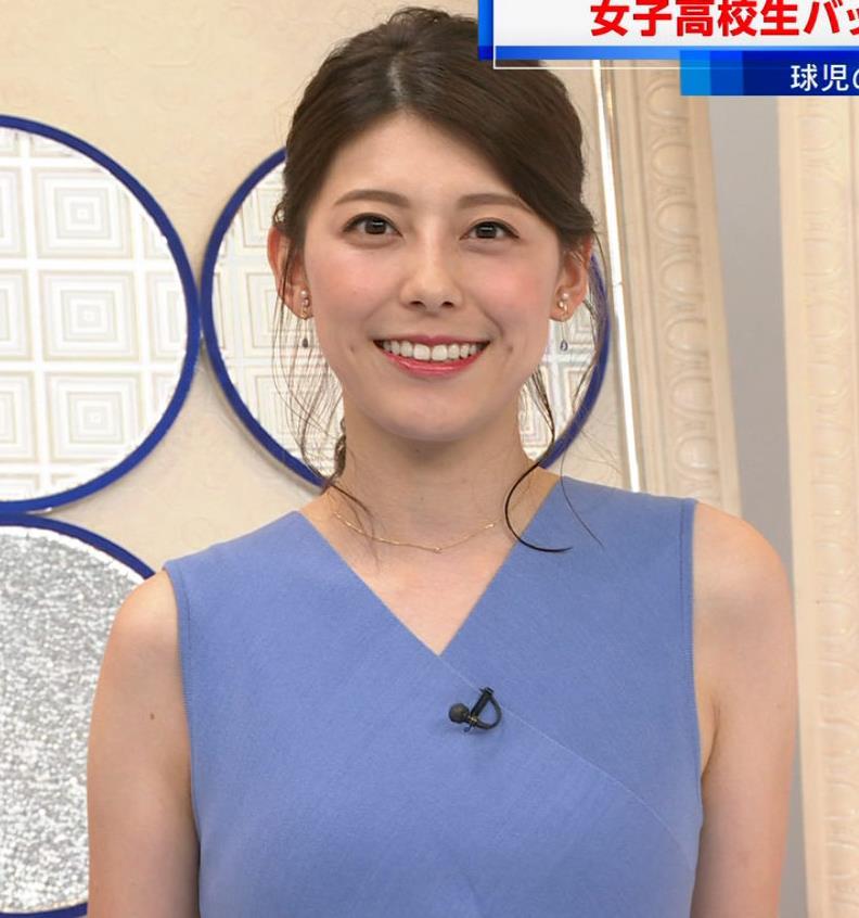 上村彩子アナ タイトめノースリーブキャプ・エロ画像6