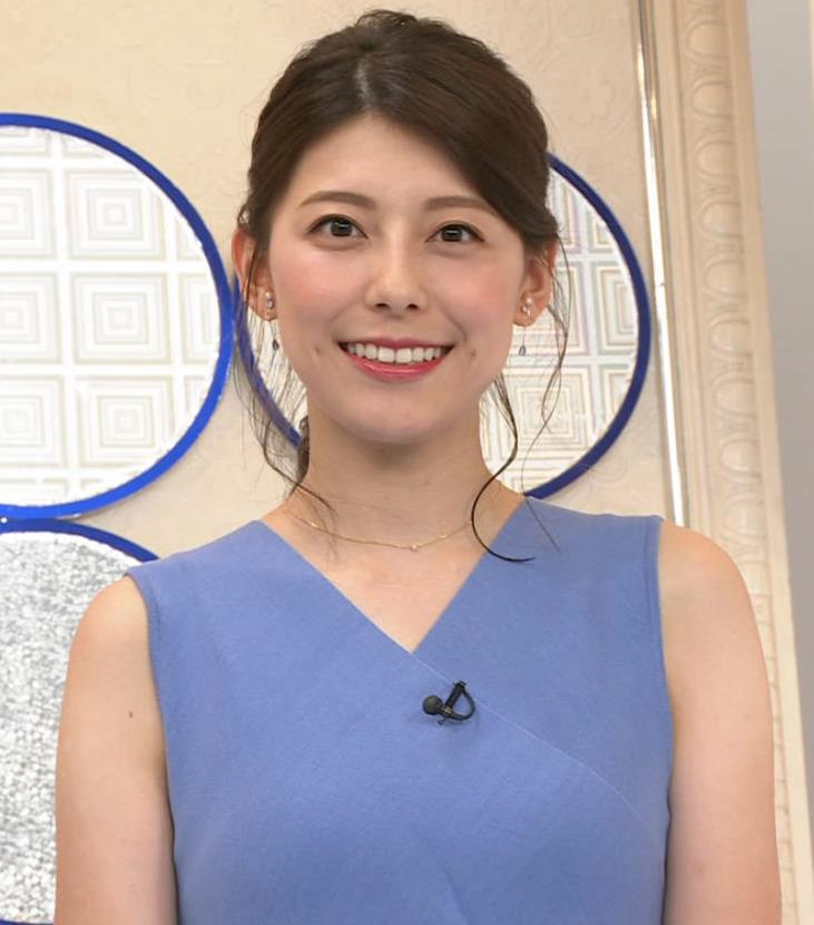 上村彩子アナ タイトめノースリーブキャプ・エロ画像7