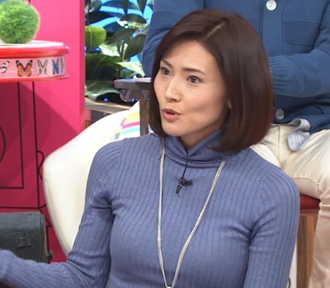 金子恵美 ピチピチなニットでおっぱいがエロいキャプ・エロ画像2
