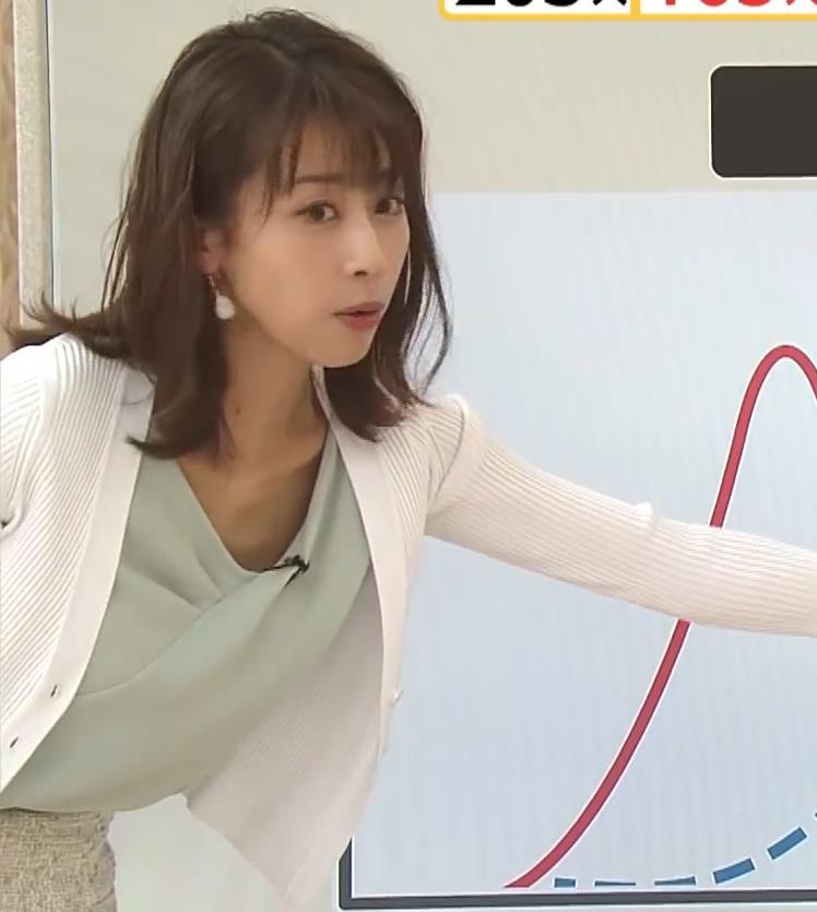 加藤綾子 緩い服で胸元チラキャプ・エロ画像6