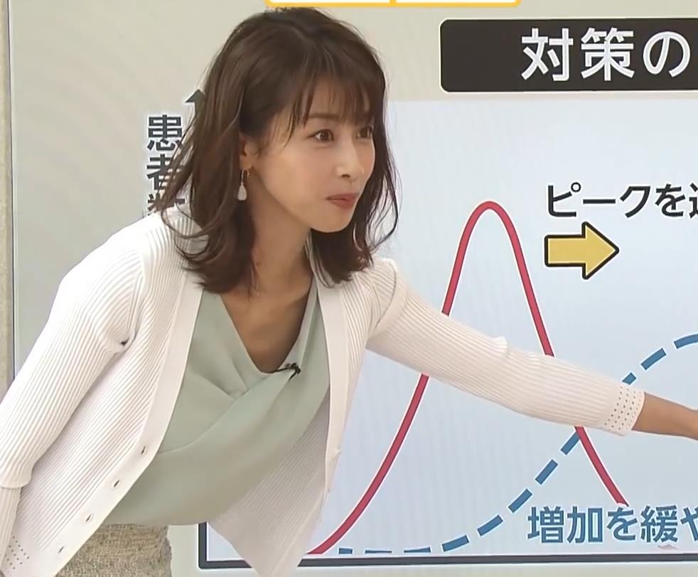 加藤綾子 緩い服で胸元チラキャプ・エロ画像8