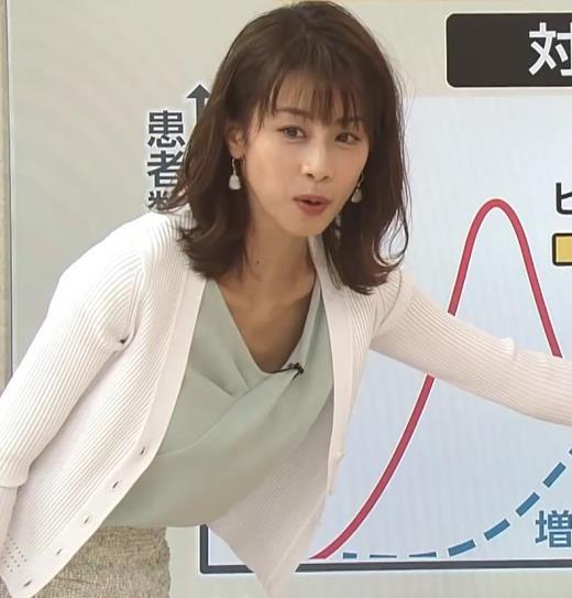 加藤綾子 緩い服で胸元チラキャプ画像(エロ・アイコラ画像)