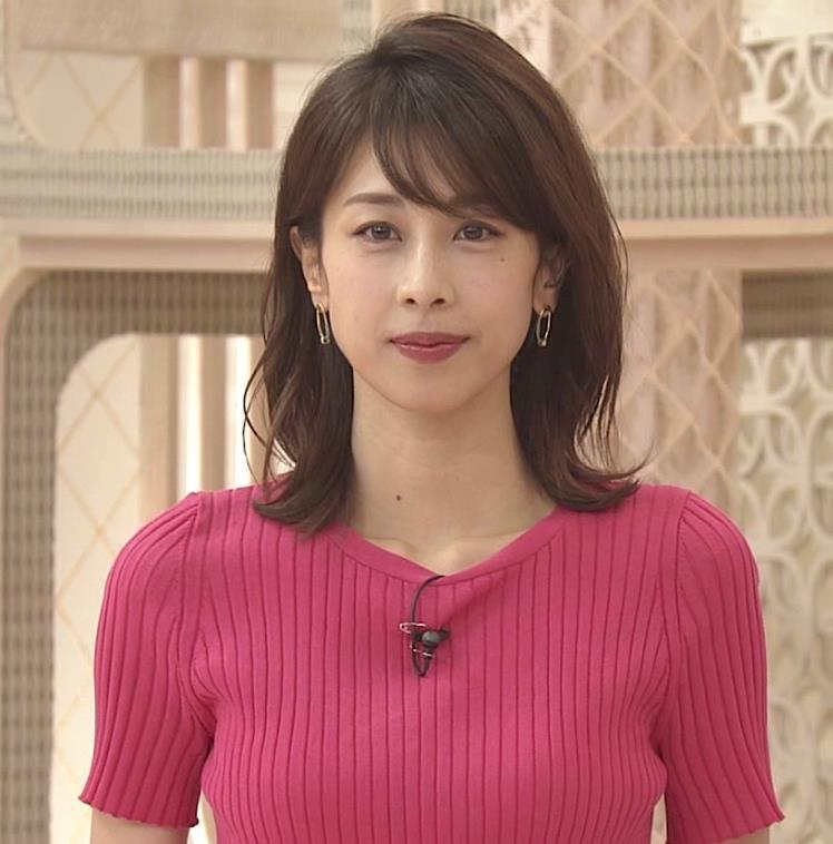 加藤綾子 まだまだエロかわいい、ニットおっぱいキャプ・エロ画像