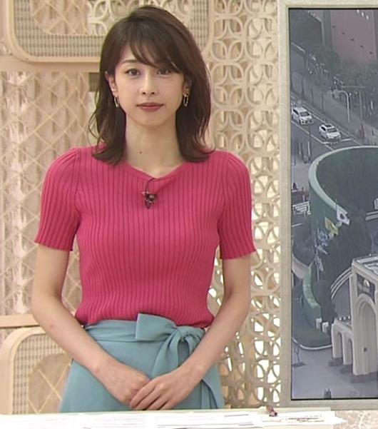 加藤綾子 まだまだエロかわいい、ニットおっぱいキャプ・エロ画像2