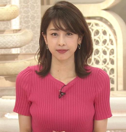 加藤綾子 まだまだエロかわいい、ニットおっぱいキャプ画像(エロ・アイコラ画像)