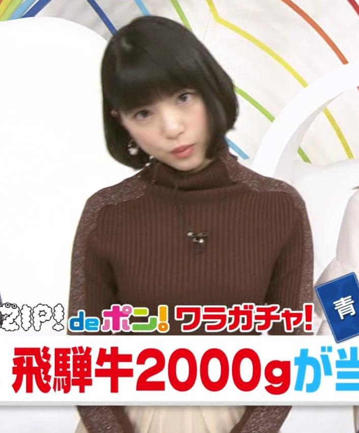 川島海荷 ニット横乳★キャプ・エロ画像3