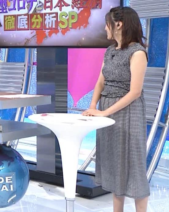 黒木千晶アナ おっぱい強調衣装キャプ・エロ画像2