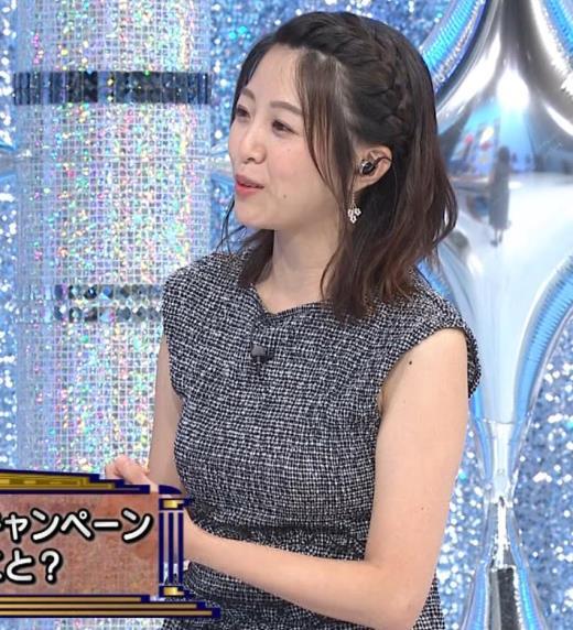 黒木千晶アナ おっぱい強調衣装キャプ画像(エロ・アイコラ画像)
