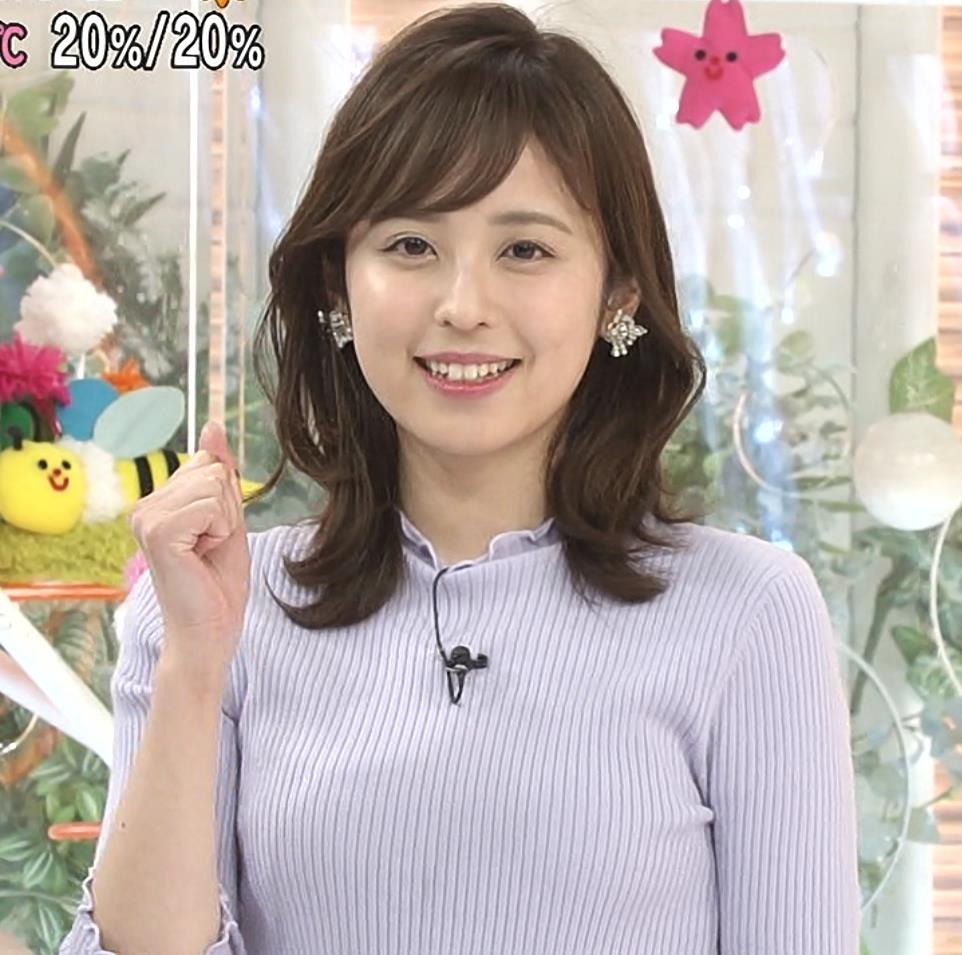 久慈暁子アナ ニットおっぱいキャプ・エロ画像