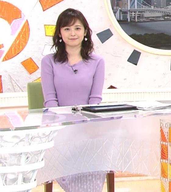 久慈暁子アナ エロかわいいニットおっぱいキャプ・エロ画像11