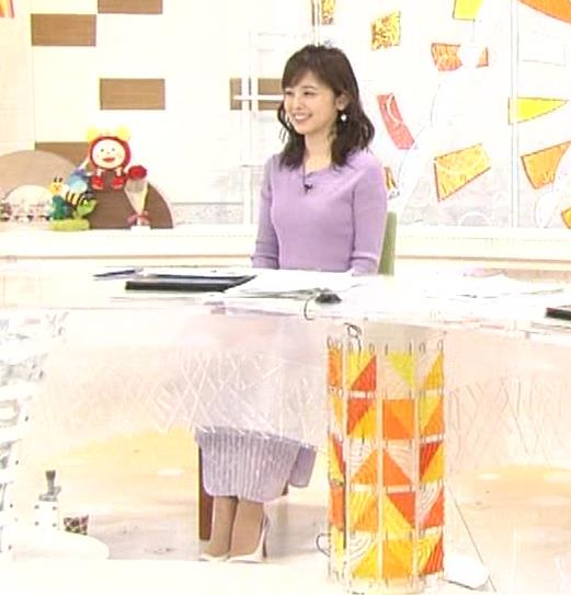 久慈暁子アナ エロかわいいニットおっぱいキャプ・エロ画像12