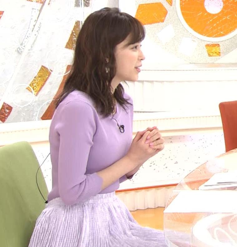 久慈暁子アナ エロかわいいニットおっぱいキャプ・エロ画像6