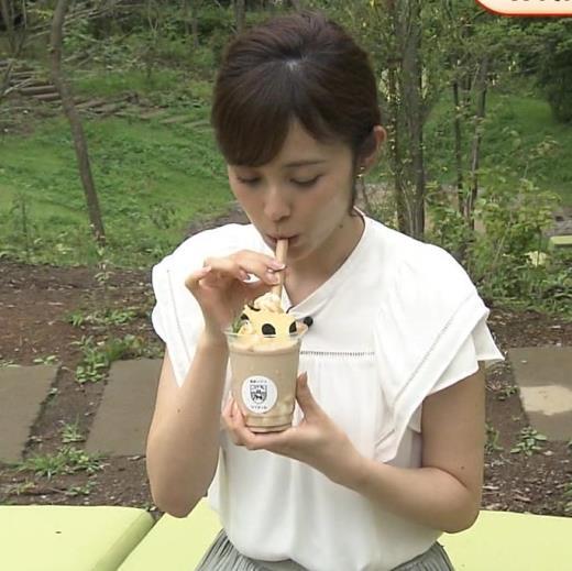 久慈暁子アナ 美人アナの疑似フェラキャプ画像(エロ・アイコラ画像)