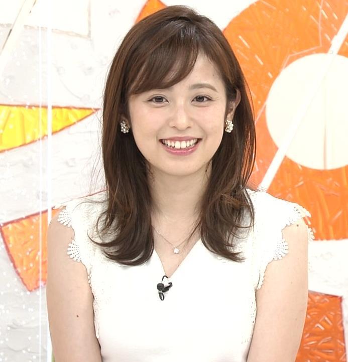 久慈暁子アナ ちょっと乳寄せキャプ・エロ画像7