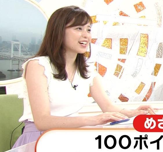 久慈暁子アナ ちょっと乳寄せキャプ・エロ画像10