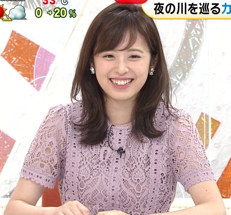 久慈暁子アナ 透け透けなレースのワンピースキャプ・エロ画像2