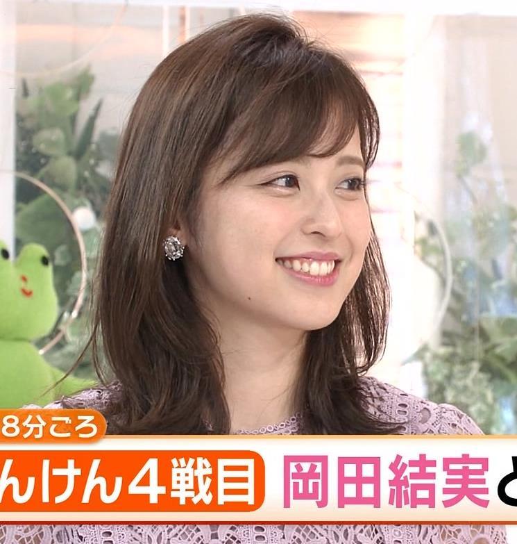 久慈暁子アナ 透け透けなレースのワンピースキャプ・エロ画像4