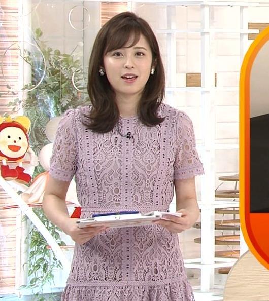 久慈暁子アナ 透け透けなレースのワンピースキャプ・エロ画像6
