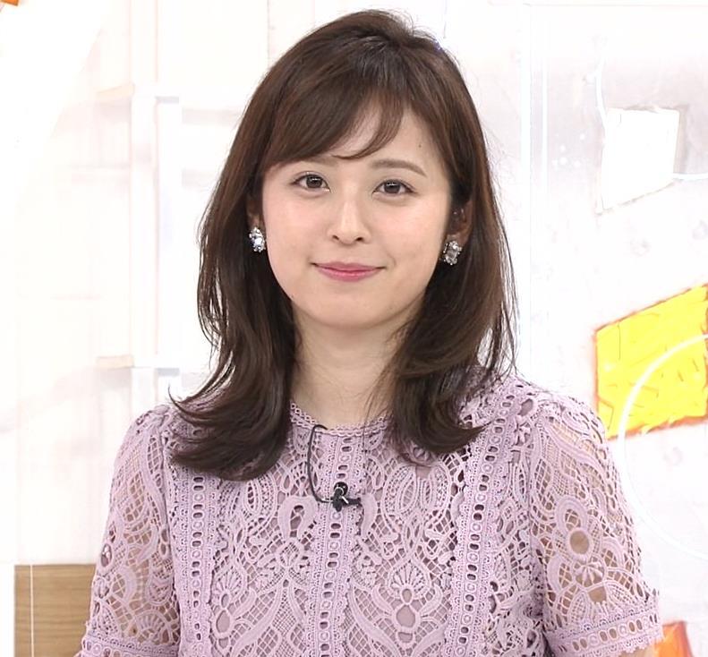 久慈暁子アナ 透け透けなレースのワンピースキャプ・エロ画像8