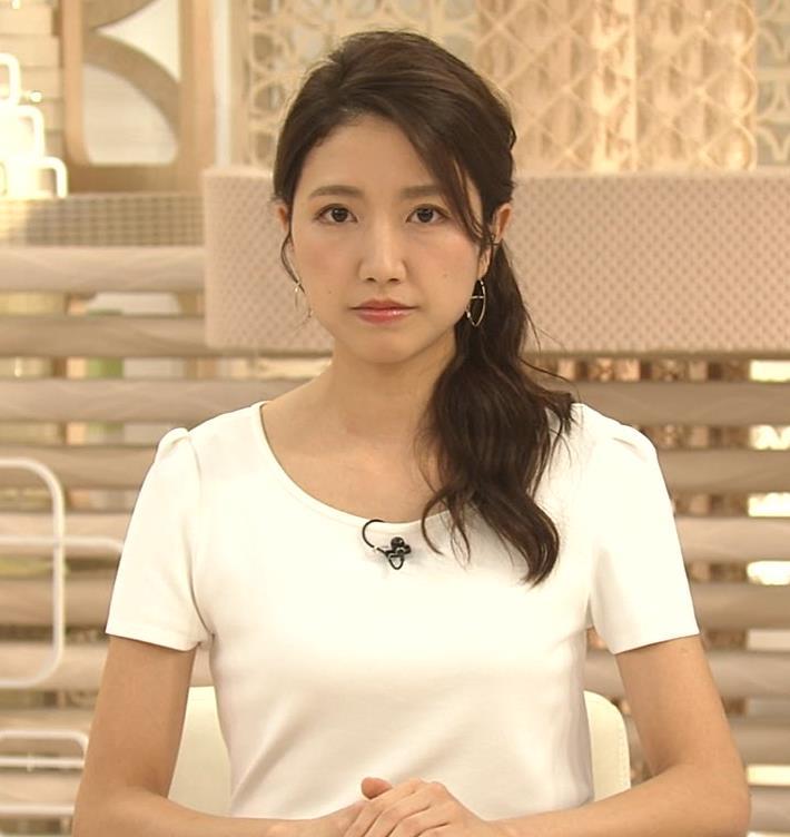 三田友梨佳アナ タイトめなTシャツでおっぱいエロキャプ・エロ画像