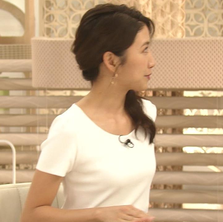 三田友梨佳アナ タイトめなTシャツでおっぱいエロキャプ・エロ画像3
