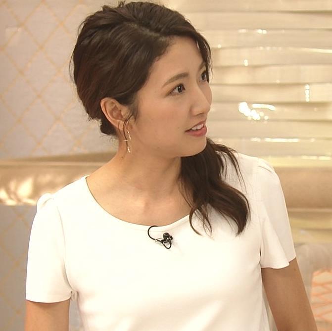 三田友梨佳アナ タイトめなTシャツでおっぱいエロキャプ・エロ画像6