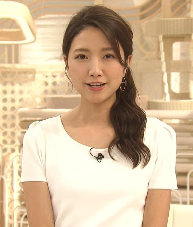 三田友梨佳アナ タイトめなTシャツでおっぱいエロキャプ・エロ画像8