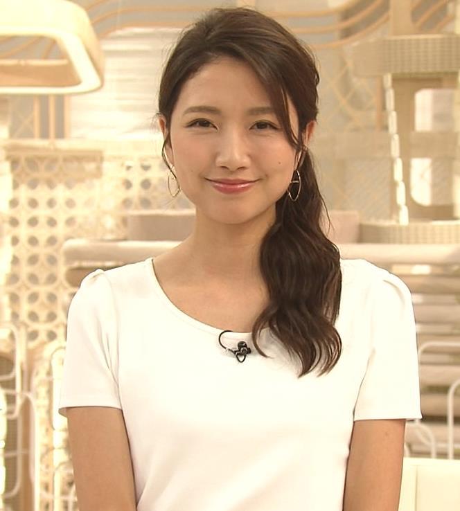 三田友梨佳アナ タイトめなTシャツでおっぱいエロキャプ・エロ画像10