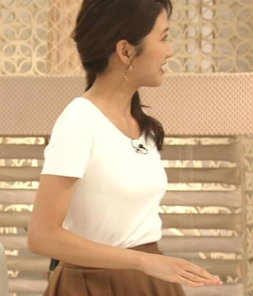 三田友梨佳アナ タイトめなTシャツでおっぱいエロキャプ画像(エロ・アイコラ画像)