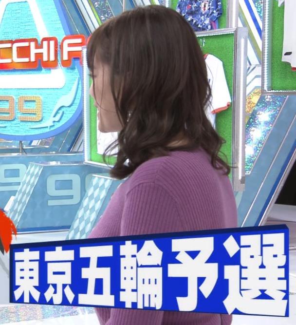 三谷紬アナ 爆乳横乳だけど、テロップが邪魔キャプ・エロ画像5